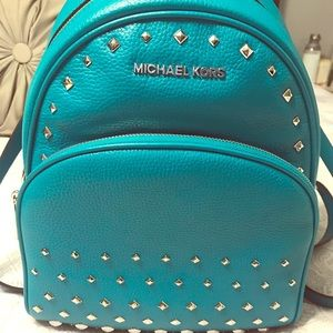 Michael Kors Abbey leather studded backpack